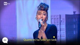 """Nina Zilli canta """"Mi hai fatto fare tardi"""" - Quelli che il calcio 10/09/2017"""