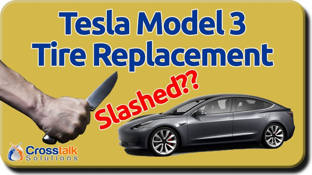 Tesla Model 3 Tire Replacement - YouTube