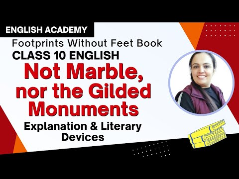 summary of poem not marble nor the gilded monuments