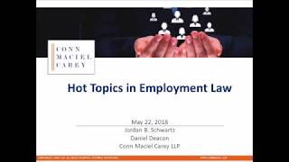 Hot Topics In Employment Law  Transgender & Sexual Orientation, And Employee Use Of Social Media