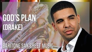 EASY Baritone Sax Sheet Music: How to play God's Plan by Drake