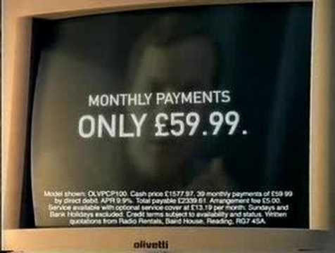 Radio Rentals (PC) - 1990's UK Advert