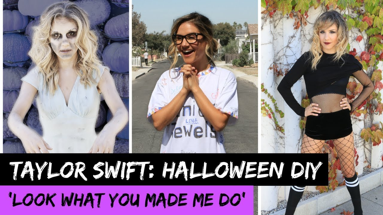 Taylor Swift u0027Look What You Made Dou0027 EASY HALLOWEEN COSTUMES! | Hollywire  sc 1 st  YouTube & Taylor Swift u0027Look What You Made Dou0027: EASY HALLOWEEN COSTUMES ...