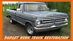 Restore Your Old Work Truck ON A BUDGET!