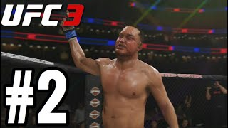 UFC 3 Light Heavyweight Career Mode Walkthrough Part 2 - KIMURA!