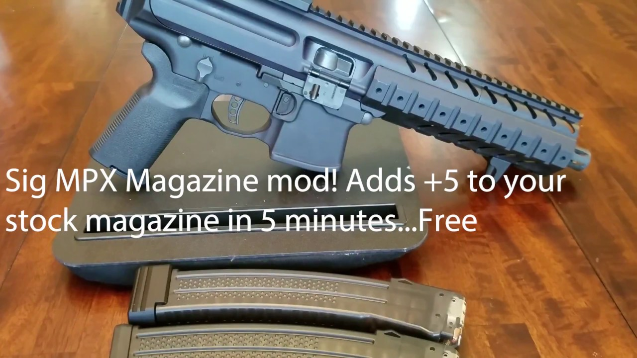 Sig MPX do it yourself +5 Magazine Mod     Super easy!!!