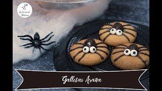 Galletas Araña  Recetas Halloween
