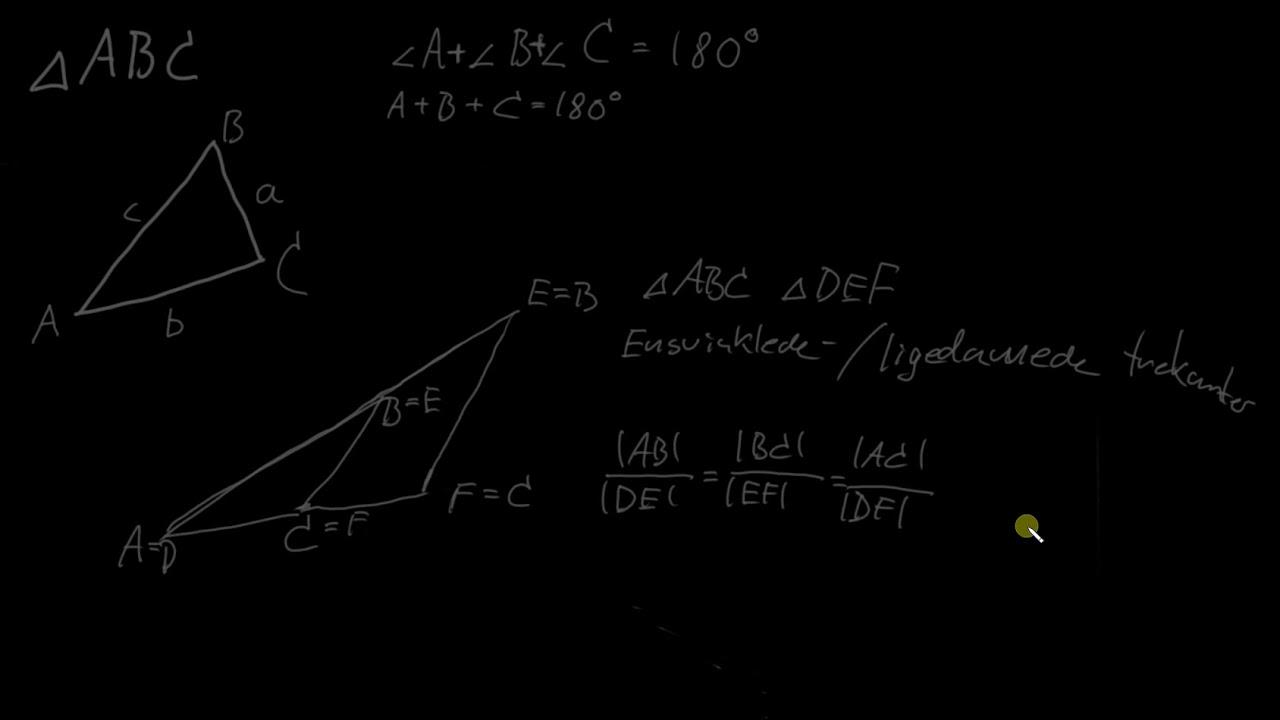 Definitioner vedr.  trekanter