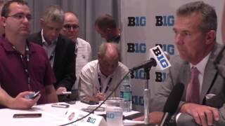 Ohio State coach Urban Meyer at Big Ten Media Days - ELEVENWARRIORS.COM