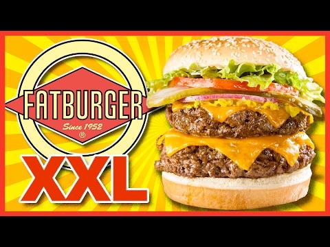 FATBURGER 1lbs. XXL BACON Kingburger & Maui Banana Milkshake
