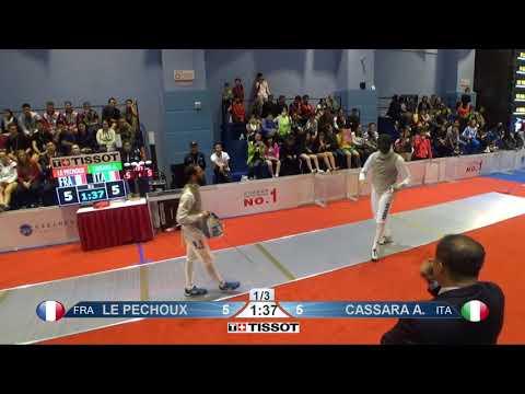 FE 2018 145 T16 02 M F Individual Shanghai CHN GP RED CASSARA ITA vs LE PECHOUX FRA