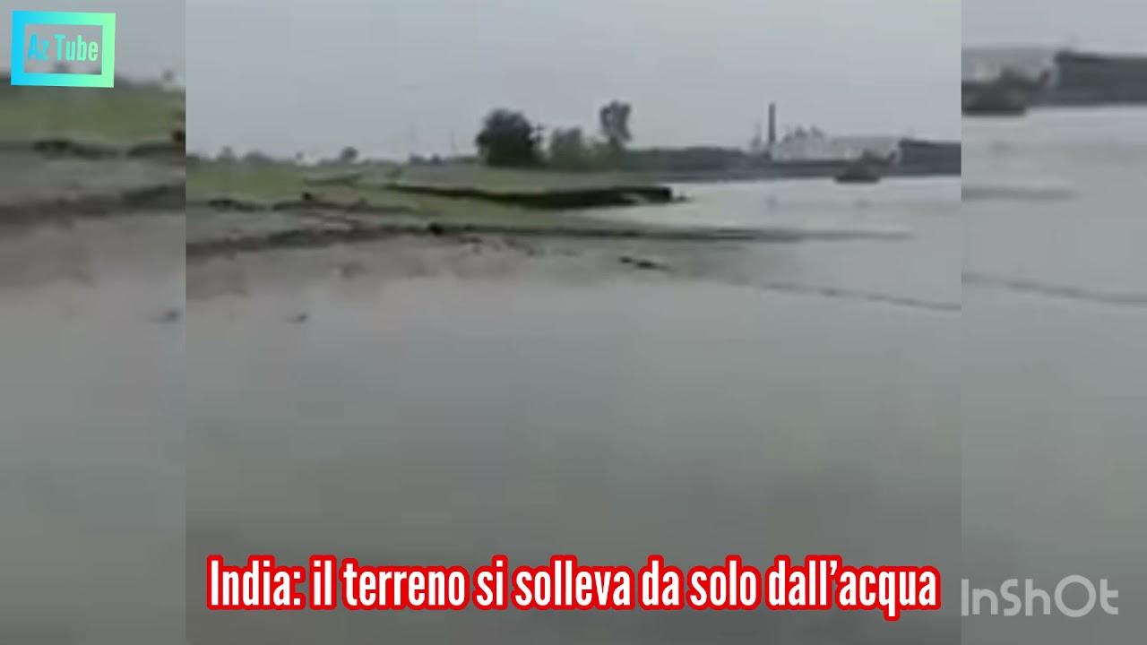 Download Insolito fenomeno registrato in #India: il terreno si solleva da solo dall'acqua