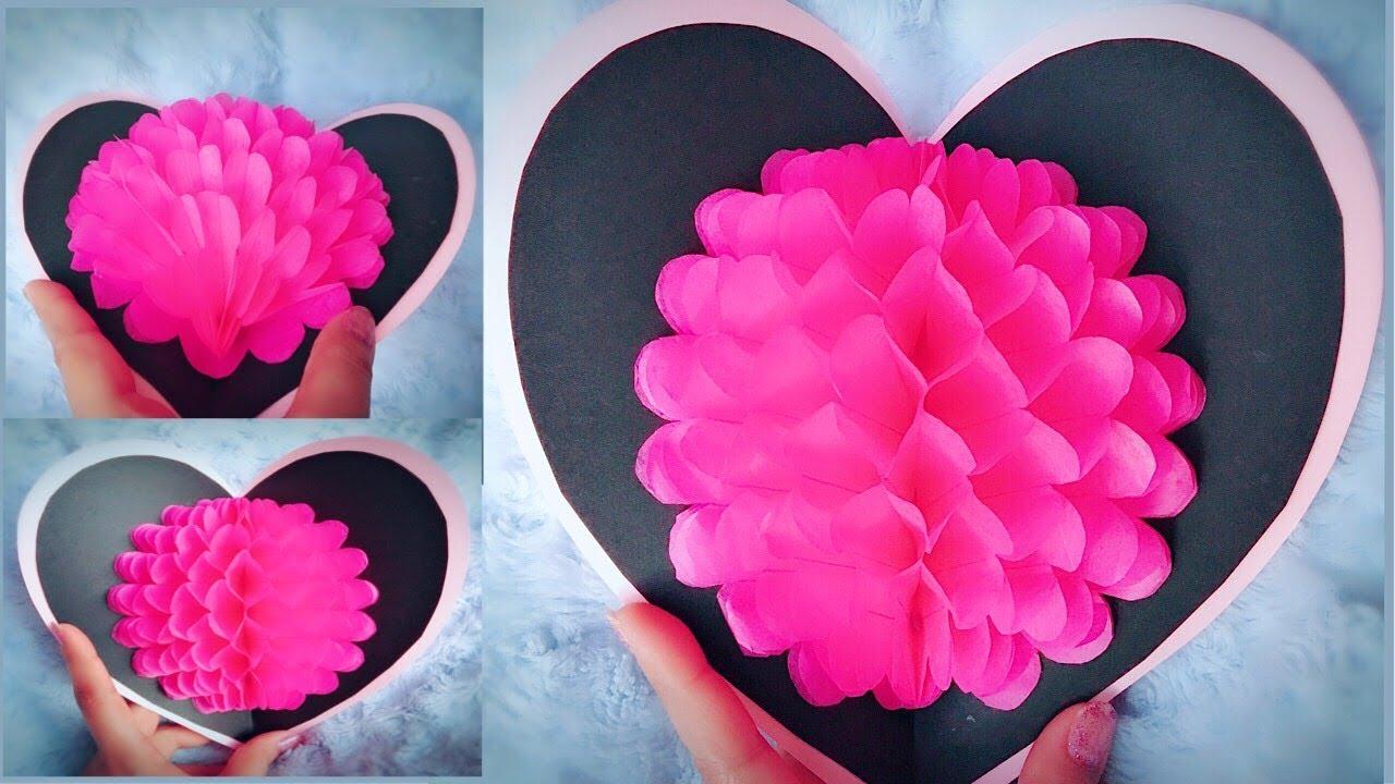 DIY 3D Flower Pop-up Card - Easy Valentine's Day Gift ...