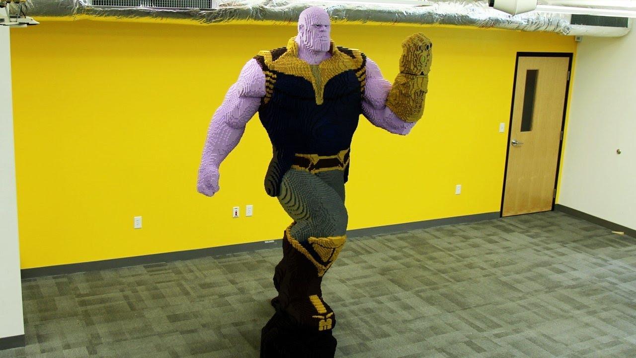 Life Sized Lego Thanos Timelapse Youtube