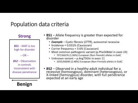 Use Of Population Data In ACMG/AMP Sequence Variant Interpretation Criteria