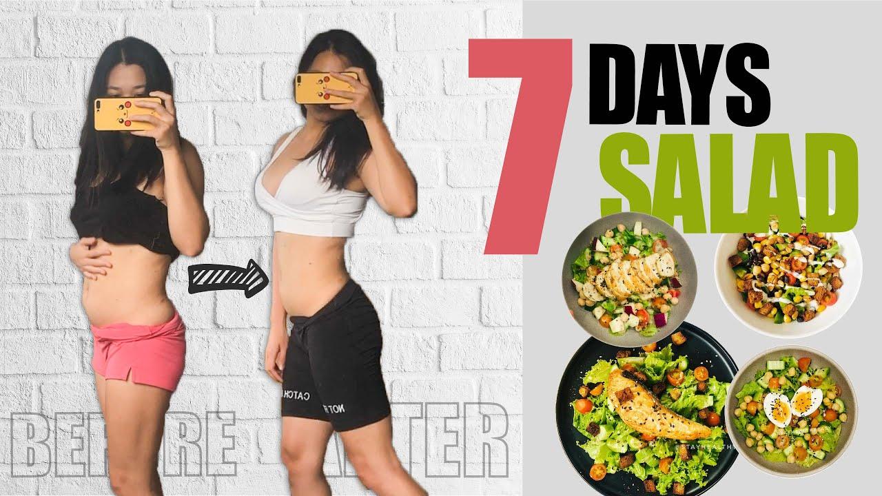 Thử thách 7 NGÀY ĂN SALAD GIẢM CÂN | 7 days SALAD challenge| Stay Healthy Easy