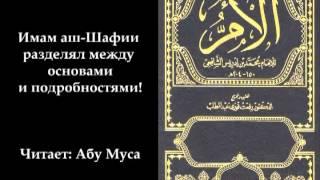 Імам аш Шафії поділяв на основи і подробиці