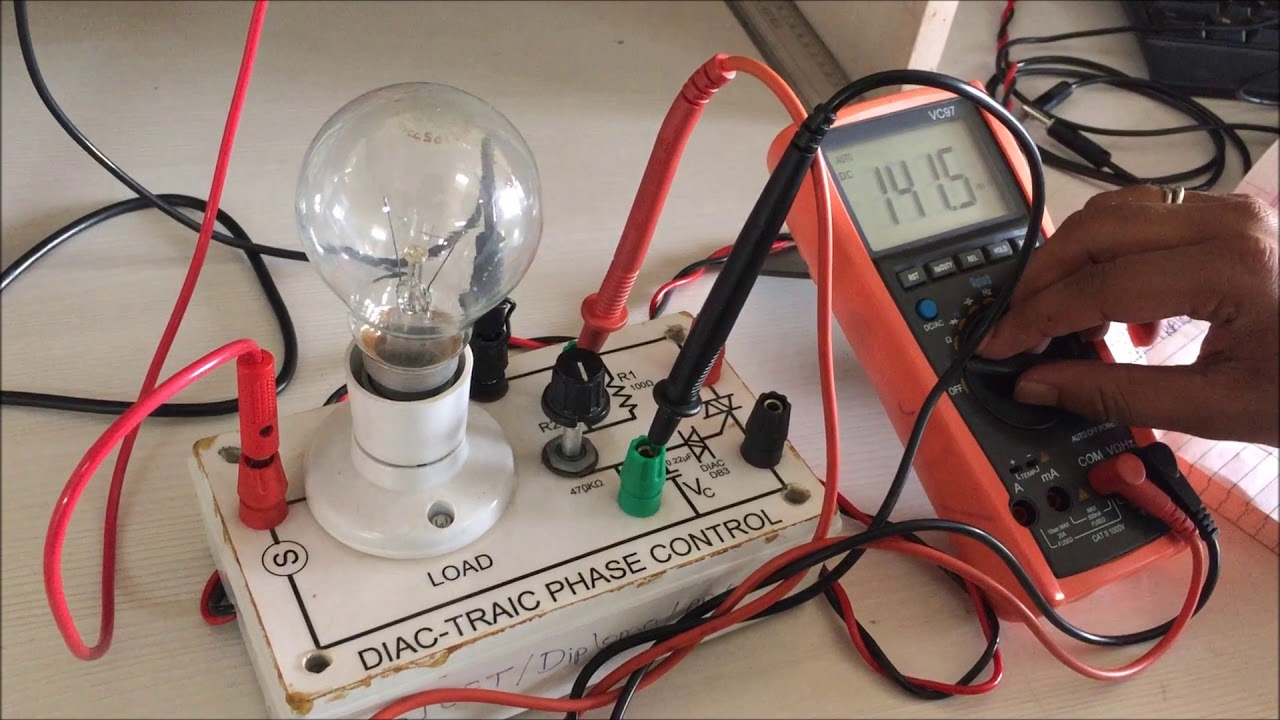Light Dimmer Circuit Using Triac And Diac Practical Youtube Basic Diagram
