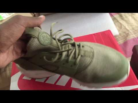Hotkicks.cn pickup Nike huarache br 4 olive green (98%Authenic) + LV slides