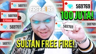 SULTAN BELI 570000 DIAMONDS TOTAL 100JUTA TANPA RAGU SPECIAL 3JUTA SUBS - Free Fire Indonesia 47