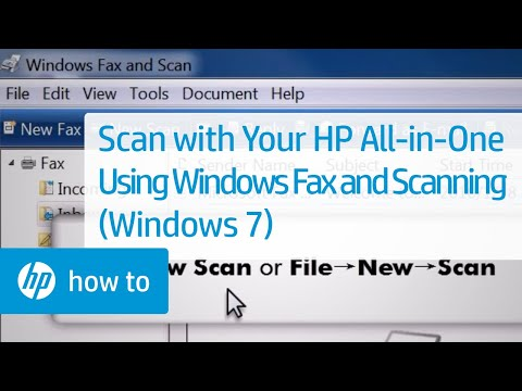Scan with Your HP All-in-One Using Windows Fax and Scanning