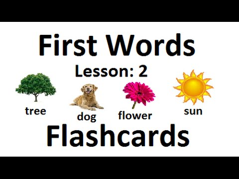 First Words Flashcards Lesson: 2 Learning videos for kids