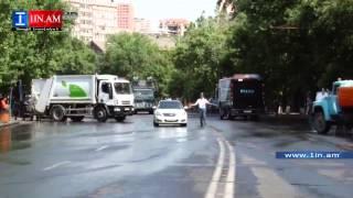 Ոստիկանությունը Բաղրամյան պողոտայից հեռացրեց զրահամեքենան և ջրցան մեքենան