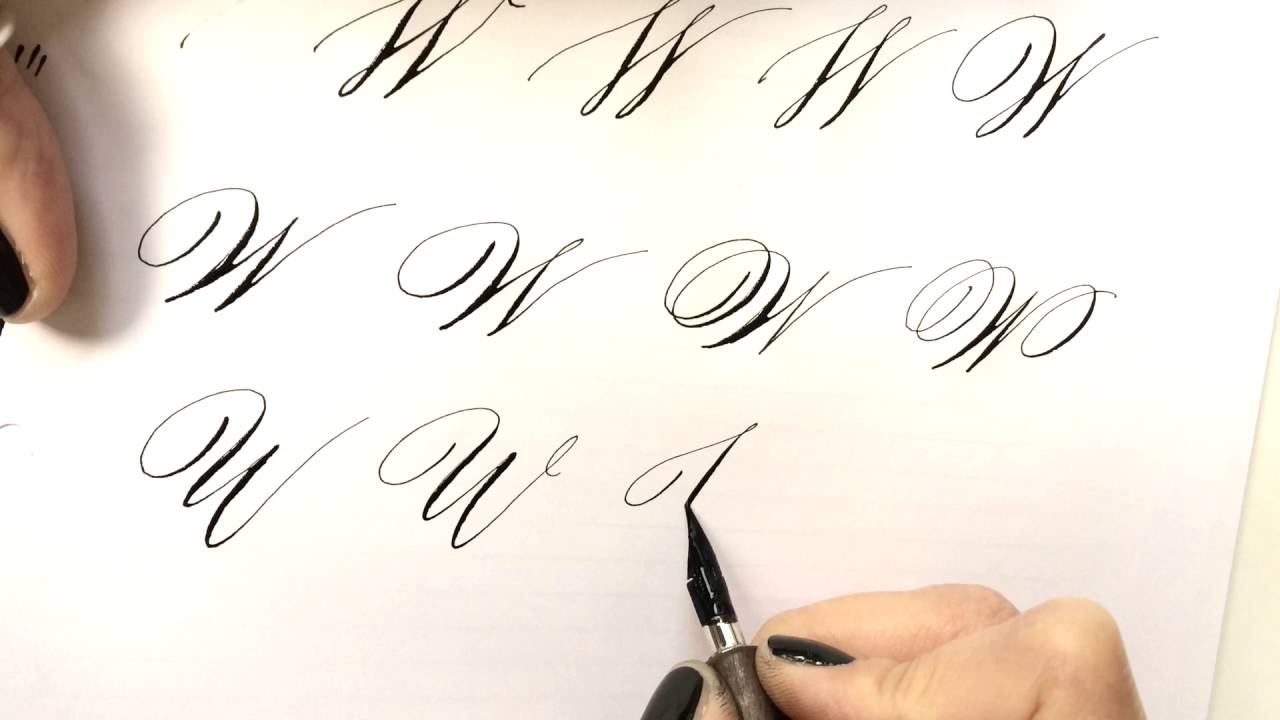 Modern calligraphy letter w youtube Calligraphy youtube