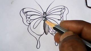 """How to draw butterfly with english letter  """" r """"   simple and easy   mazic writer"""