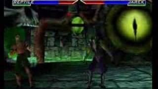 Mortal Kombat 4 Reptile Gameplay