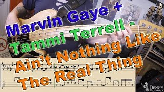 Marvin + Tammi - Ain't Nothing Like The Real Thing [BASS COVER] - with notation and tabs