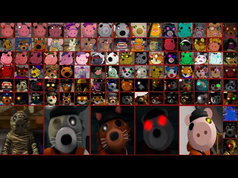 Piggy Book 1, 2, Lost & RP All Jumpscares, Traps, Abilities, Falling and Lazers Death |