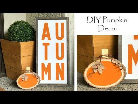 DIY Wood Pumpkin Decor