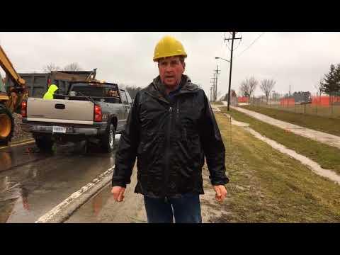 Emergency road closure in Dexter
