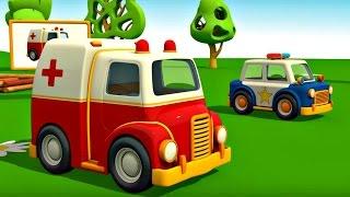 Meraklı kamyon Leo ve ambulans - eğlenceli çizgi film