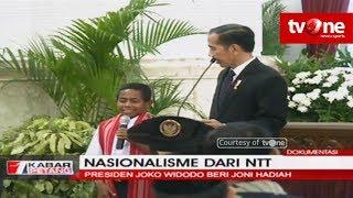 Nasionalisme Dari NTT, Presiden Jokowi Beri Joni Hadiah