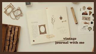 빈티지 다이어리 꾸미기 | Journal with me…