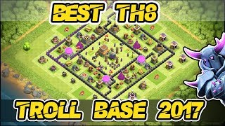 BEST TH8 TROPHY BASE AND TH8 TROLL BASE 2017 ANTI EVERYTHING UPDATED LATEST  SHUBHAM002