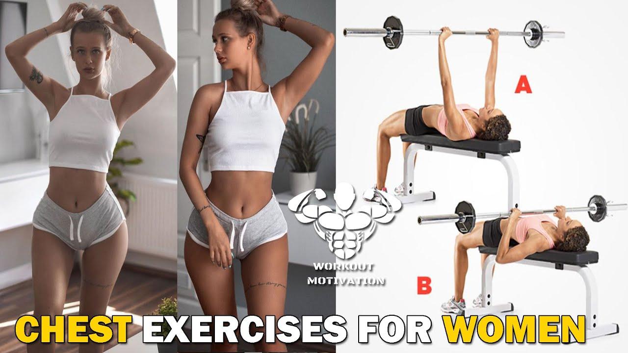 CHEST WORKOUT | 6 Exercises For Women | Female Fitness Motivation 2021