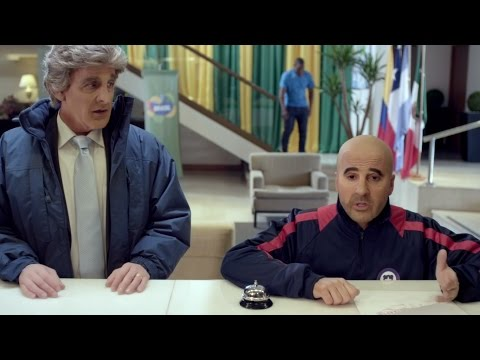 Kramer imitando a Pellegrini, Sampaoli y Mourinho