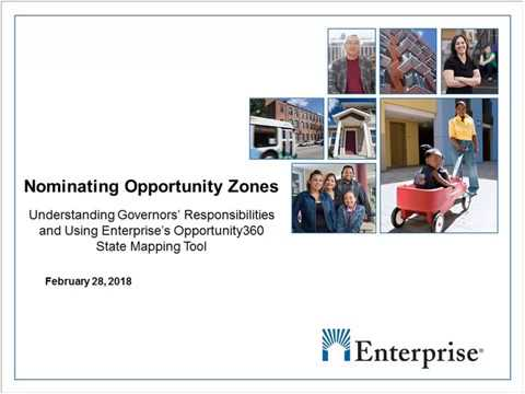 Opportunity Zones: Demonstrating Our Mapping Tool,  Discussing Governors' Responsibilities
