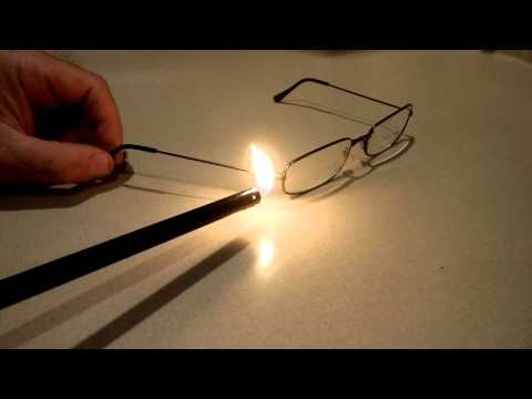 Reading Glasses repair with heat shrink tubing