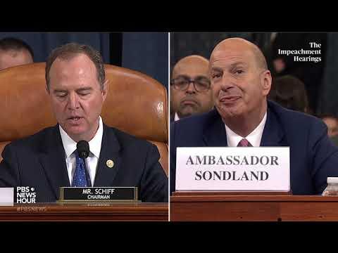 WATCH: Rep. Schiff's full closing statement in Gordon Sondland hearing | Trump impeachment hearings