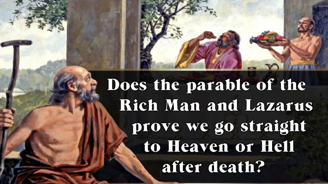 the rich man and lazarus This is a parable of a rich man who feasted in luxury and a poor man (lazarus) who was a beggar that was covered with ulcerated sores and so helpless that he could not even ward off the street dogs which pestered him (vv 19-22.