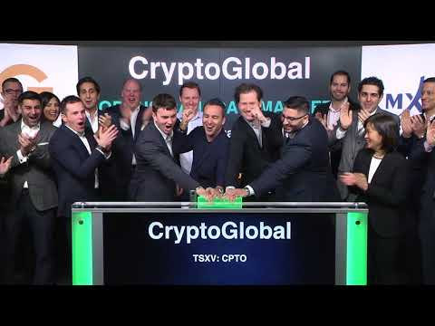 CryptoGlobal Corp. Opens Toronto Stock Exchange, February 2, 2018
