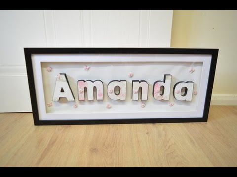 how to make a personalised 3d name frame youtube - Name Frame