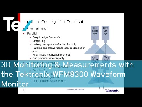 3D Monitoring & Measurements with the Tektronix WFM8300 Wave