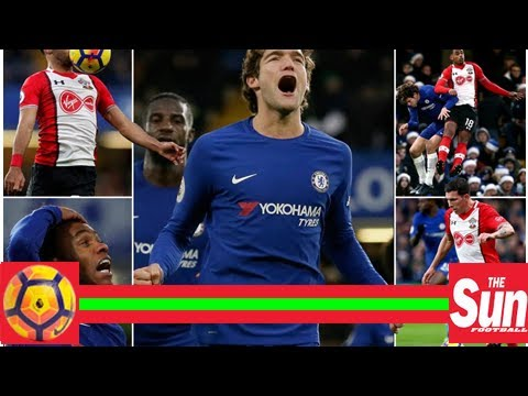 Chelsea 1 southampton 0: marcos alonso's stunning free-kick on the brink of half-time piles the pre