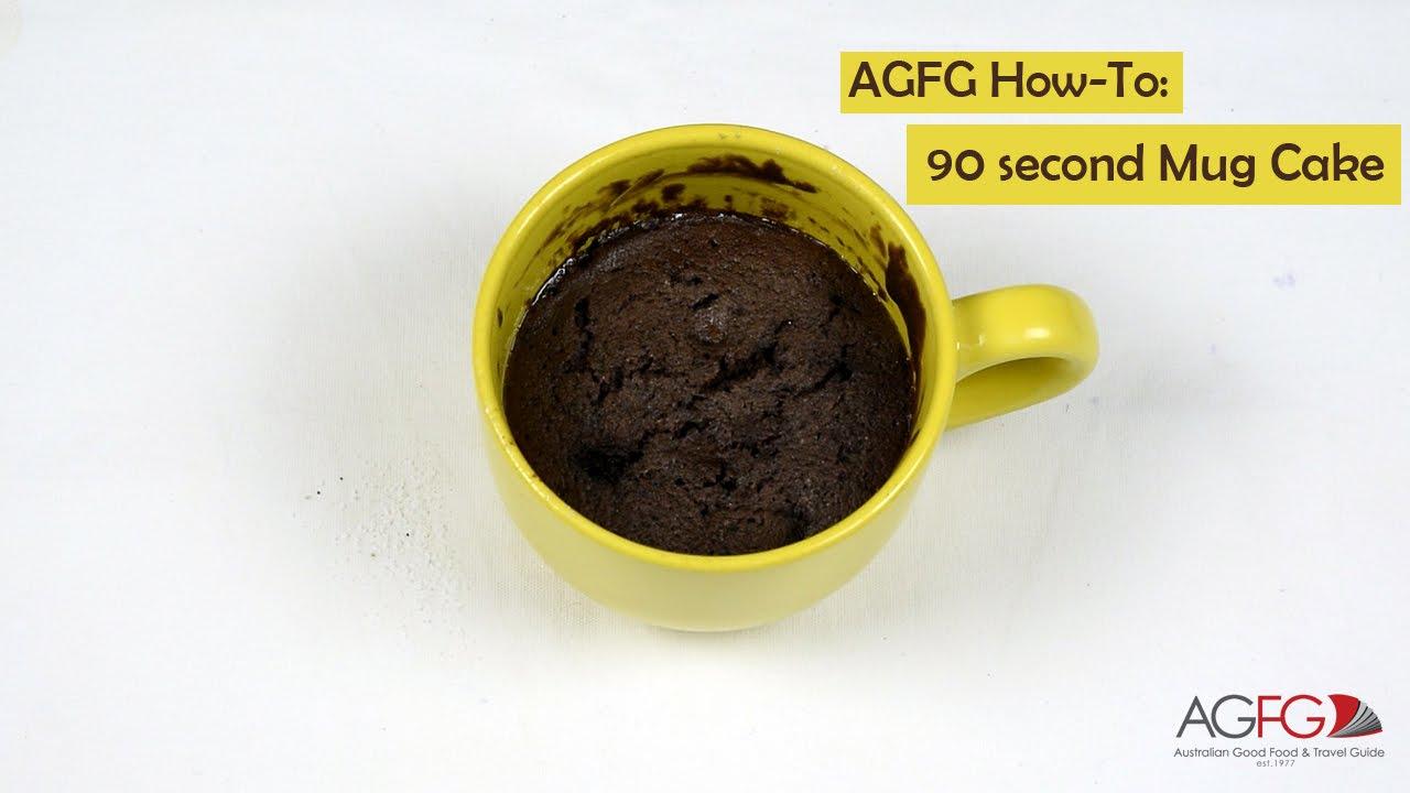 How to Make a 90 second Mug Cake // Chocolate Mug Cake Tutorial // AGFG How  To