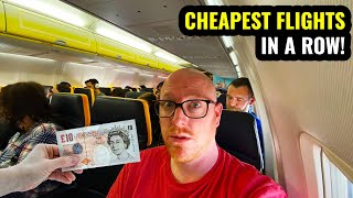 I TOOK THE CHEAPEST FLIGHTS IN A ROW AND ENDED UP IN.... Low Fare Challenge!